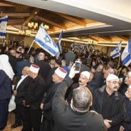 Druze men express support for Israel. (Arkady Mazor/Shutterstock.com)