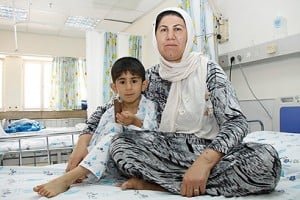 Iraqi child  receives medical treatment in Israel