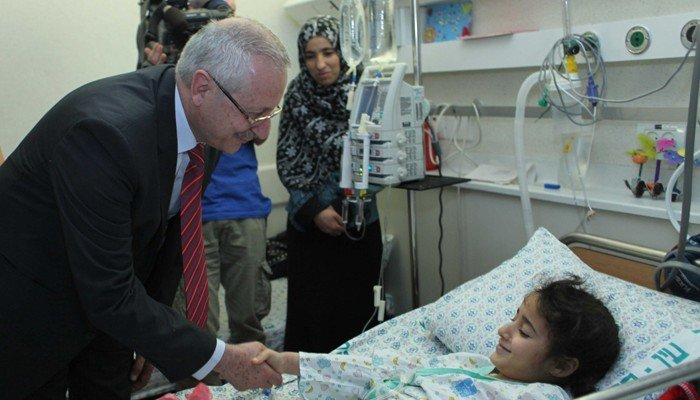 Palestinian child in Hadassah Hospital