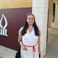 Rachel Avraham on BGU campus