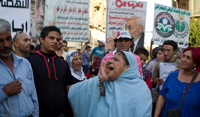 Egyptians protest against Morsi
