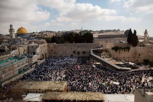 Birkat Kohanim at Western Wall