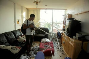 This home was destroyed by Hamas, which fired a direct hit. (Photo: Edi Israel/Flash90)