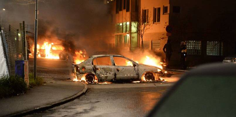 The riots in Stockholm. (Photo: rotter.net)