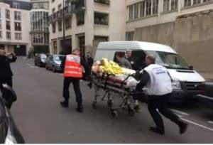 Scene from the terror attack at Charlie Hebdo headquarters. (Photo: Youtube screenshot)