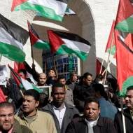 Palestinians protest