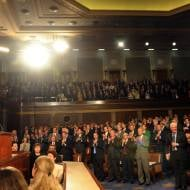 Israel Prime Minister Benjamin Netanyahu addresses the US Congress in Washington, May 24 2011. (Avi Ohayon/GPO/Flash90)