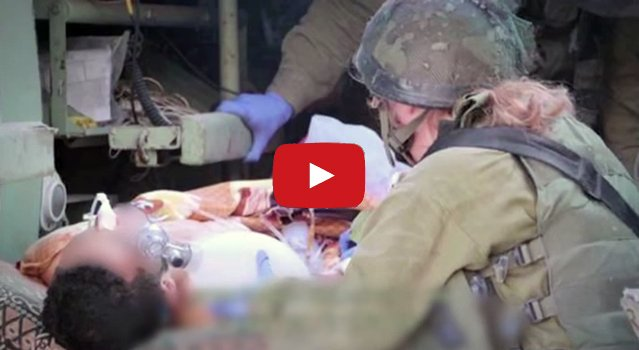 IDF assists wounded Syrian civilians. (Screenshot)