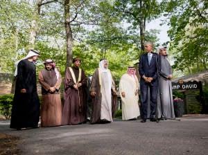 Obama and Arab Royalty at Camp David