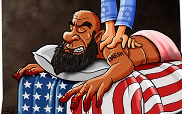 Image result for ISIS ISRAELI LINK CARTOON