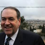 Mike Huckabee in Israel. (Kobi Gideon/Flash90)