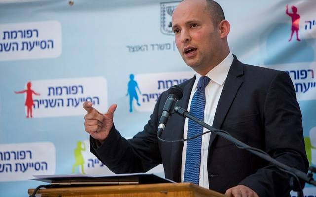 Minister of Education Naftali Bennett.