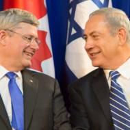 harper and netanyahu