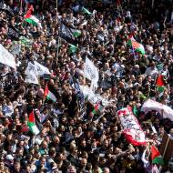 Mass funeral for terrorists in Hebron