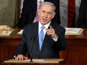 Netanyahu addresses US Congress in March 2015 against nuclear deal with Iran. (AP/Susan Walsh)