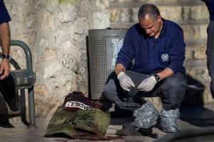 scene of terror attack in old city of jerusalem
