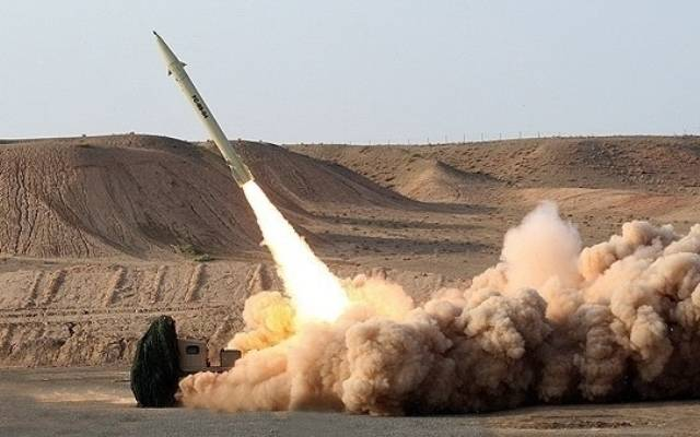 Iran's military launches a missile
