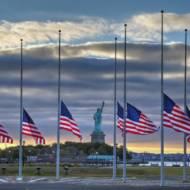 US flag half staff