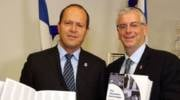 Michael Gerbitz and Nir Barkat