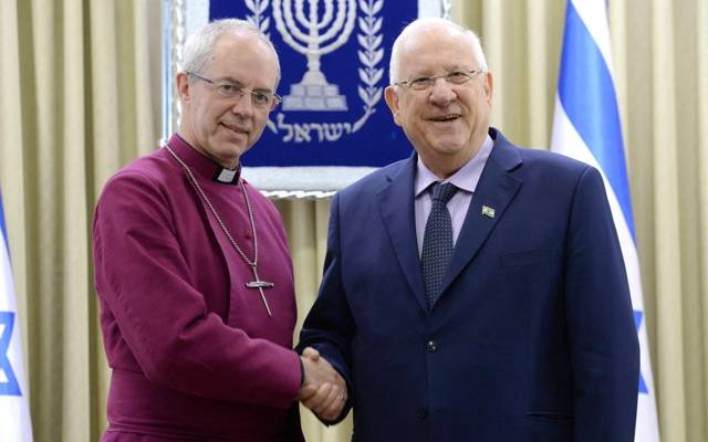 Rivlin & Archbishop of Canterbury Welby