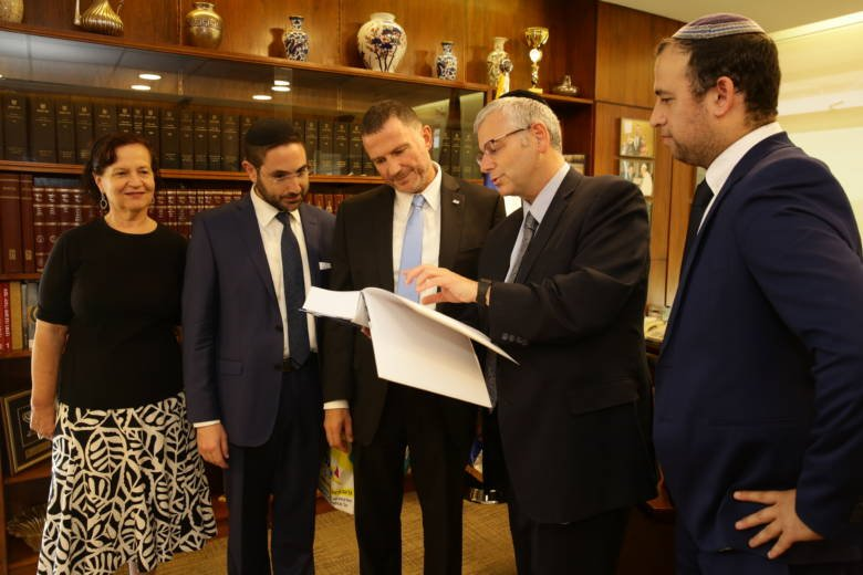 Israeli Knesset Speaker Yuli Edelstein and United with Israel Staff