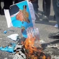 Palestinians protest Kushner