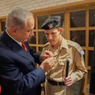 Binyamin Netanyahu and Daniel Defur