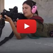 Female IDF shooting instructor