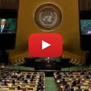 PM Netanyahu speaks at the United Nations. (Photo: Avi Ohayon/GPO)