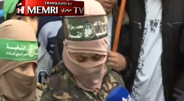 Hamas indoctrinates children at children's rally
