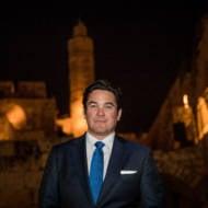 """Superman"" actor Dean Cain in Jerusalem's Old City. (Yonatan Sindel/Flash90)"
