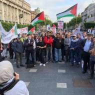 An Ireland Palestine Solidarity Campaign demonstration. (IPSC)