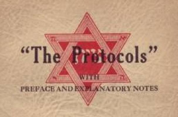"A 1934 edition of the infamous forgery, ""The Protocols of the Elders of Zion."" (Wikimedia Commons)"