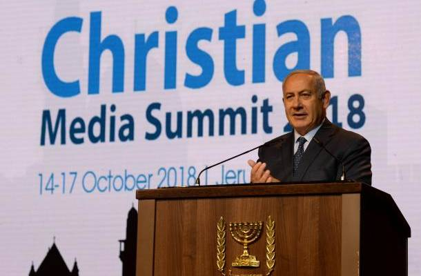 Netanyahu at Christian Media Summit