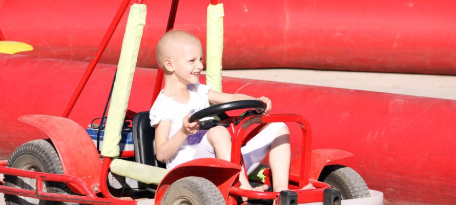 cancer child playing