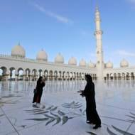 The Grand Mosque of Sheikh Zayed, in Abu Dhabi, United Arab Emirates. (AP Photo/Andrew Medichini)