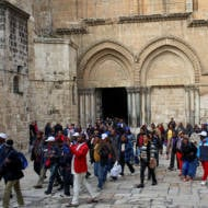 Christian tourists Jerusalem
