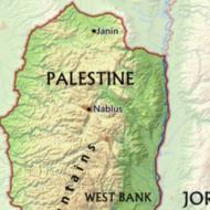 Map of Palestine (Free World Maps)