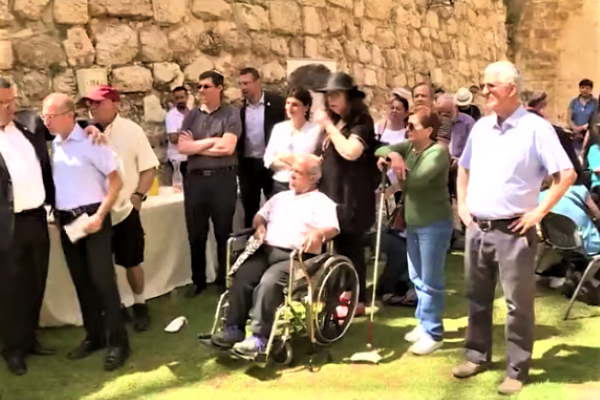 Visually impaired visitors in Jerusalem. (screenshot)