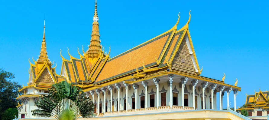 Royal Palace exterior in Phnom Penh, Cambodia (Shutterstock)