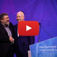 Former US Special Envoy to the MiddleEast, Jason Greenblatt, with OurCrowd CEO Jonathan Medved.