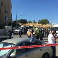 Scene of Jerusalem stabbing